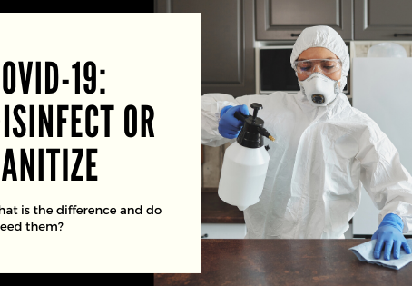 COVID 19: Differences between cleaning, sanitising and disinfecting