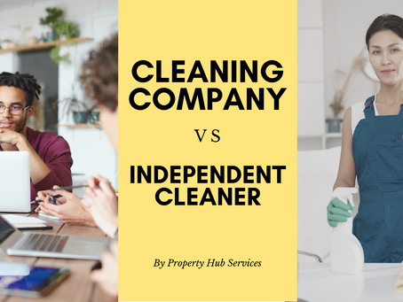 Cleaning company vs Independent Cleaner - Which one to choose?