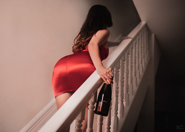 GOING UPSTAIRS RED DRESS.jpg