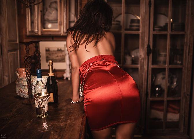 kitchen red dress back top off.jpg