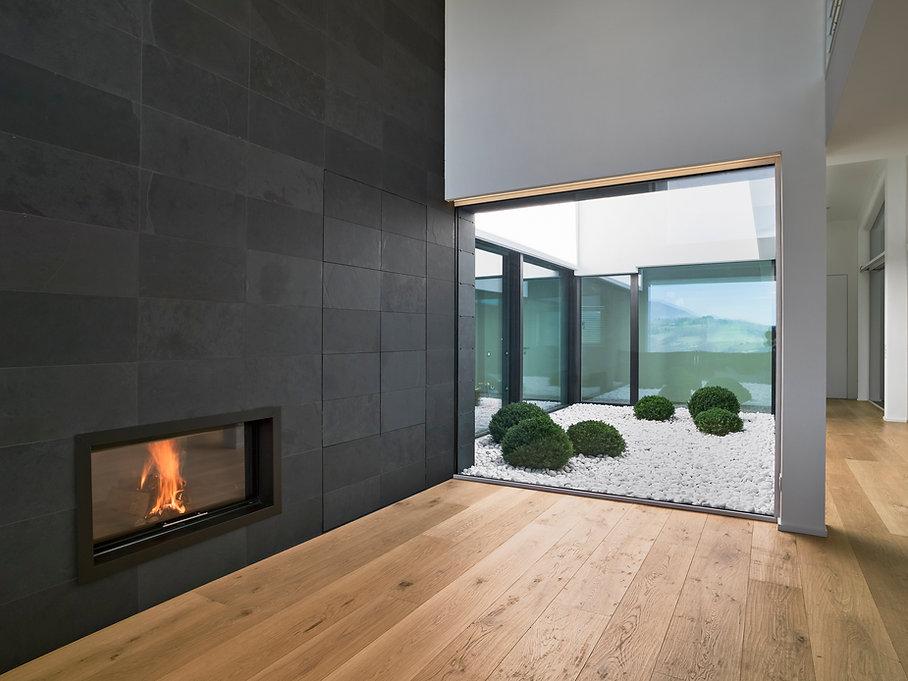 interiors shots of a modern empty living