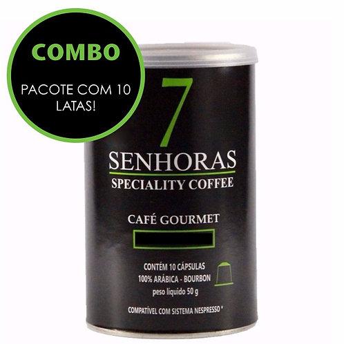 Combo com 10 Latas de Cápsulas 7 Senhoras Speciality Coffee