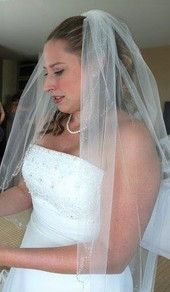 Half Up with veil