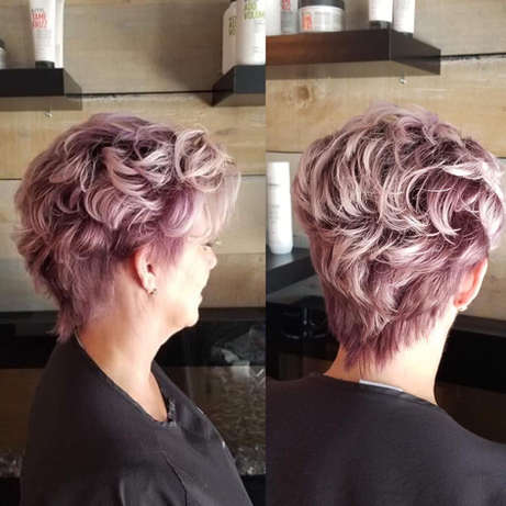 Purple Shadow Root in Soft Lavender Waves