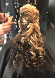 Trendy Braided & Crimped Upstyle