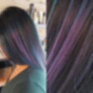 Rocking purple, blue & teal highlights!_