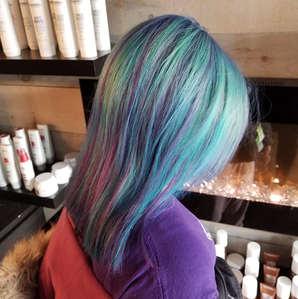 Purple &  Blue Highlights