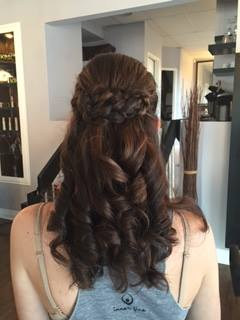 Curly Half Up Style