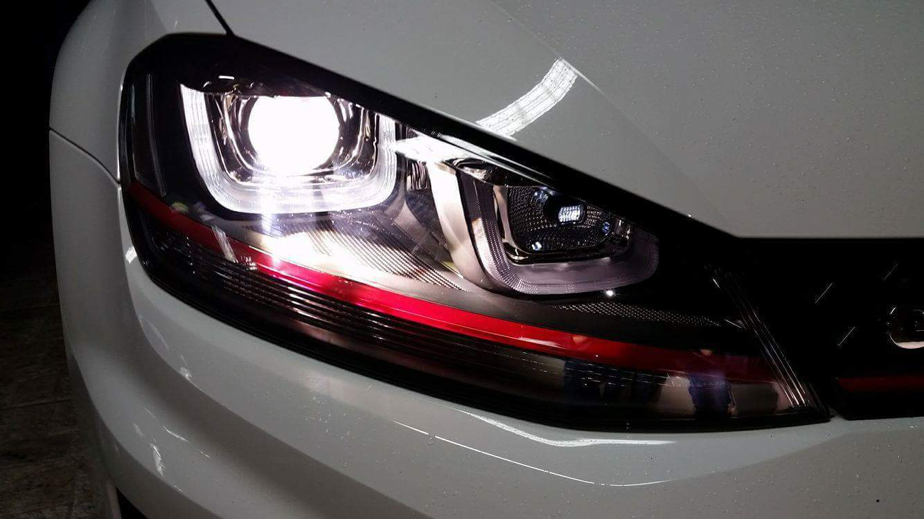 Farol LED single U GOLF GTI