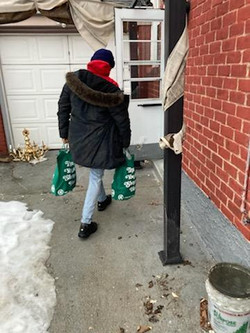 delivering food to our families who can't go out