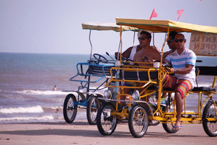 Rent a surrey by hour or day and explore the Beach.