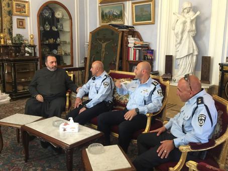 Երուսաղեմի Հին քաղաքի ոստիկանապետի այցը Պատրիարքարան