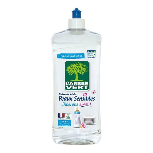 Liquide vaisselle peaux sensibles/biberons 750ml - L'ARBRE VERT