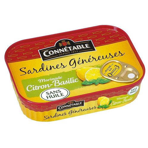 Connétable Sardine Généreuses au Citron 140g