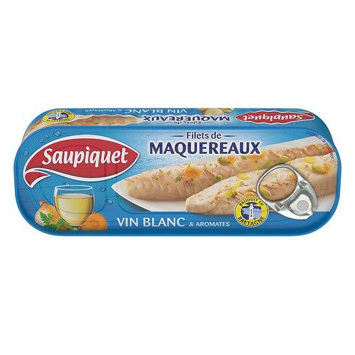 Filets de Maquereaux vin blanc 176g - SAUPIQUET