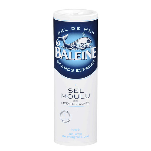 Sel moulu de méditerranée 250g - LA BALEINE