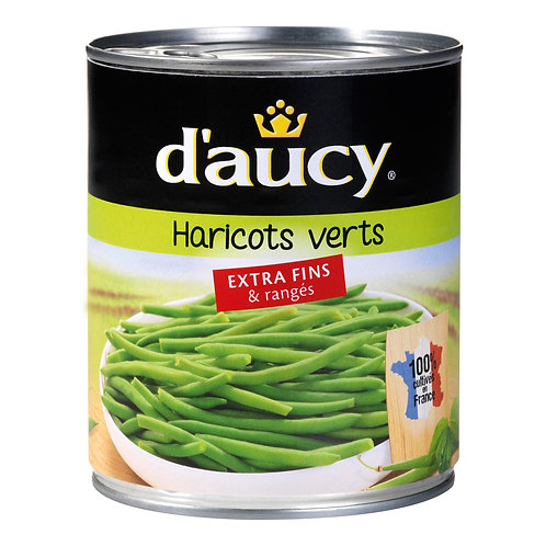 Haricots verts extra fins - 440g - D'AUCY