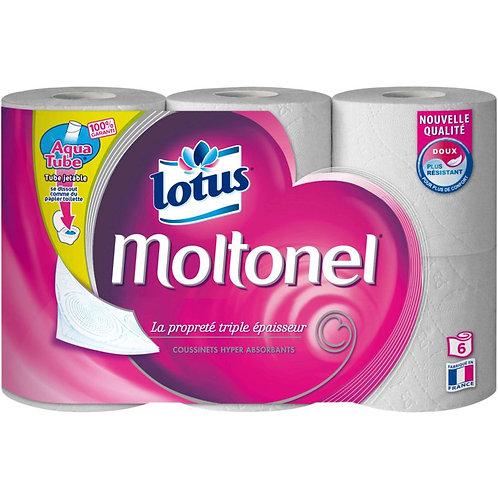 Papier toilette moltonel x6 - LOTUS