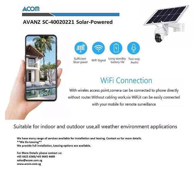 avanz solar-powered camera cctv acom.png