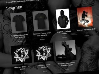 New addition: Seigmen / Zeromancer webstore