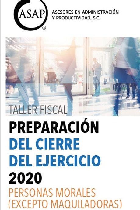 Preparación Cierre Fiscal Personas Morales
