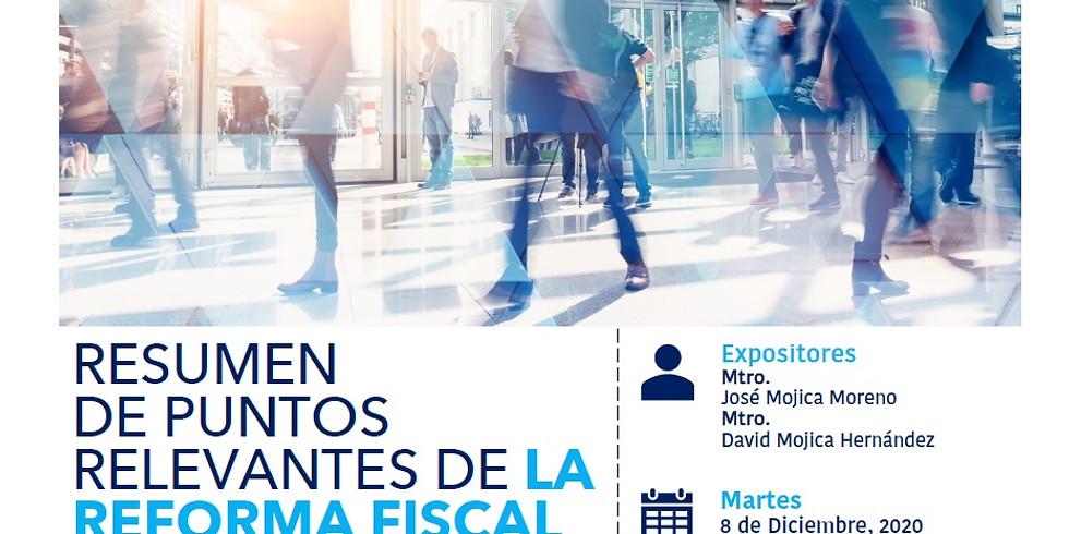 Resumen de Puntos Relevantes De La Reforma Fiscal Aprobada Para 2021