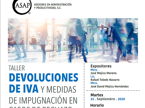 Devoluciones de IVA y Medios de Impugnación 2020