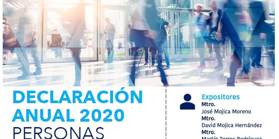 Declaración Anual 2020 Personas Morales en General (Excepto Maquiladoras)