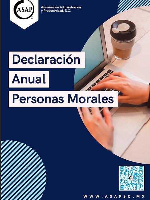 Declaración Anual Personas Morales 2020 (Excepto Maquiladoras)