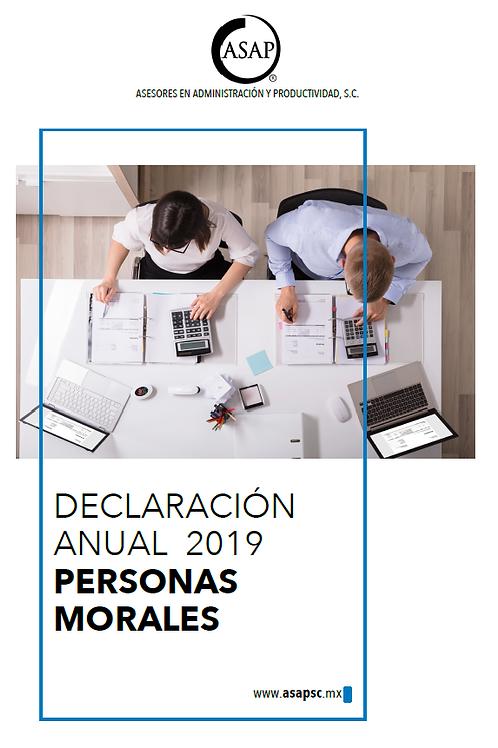 Declaración Anual Personas Morales 2019