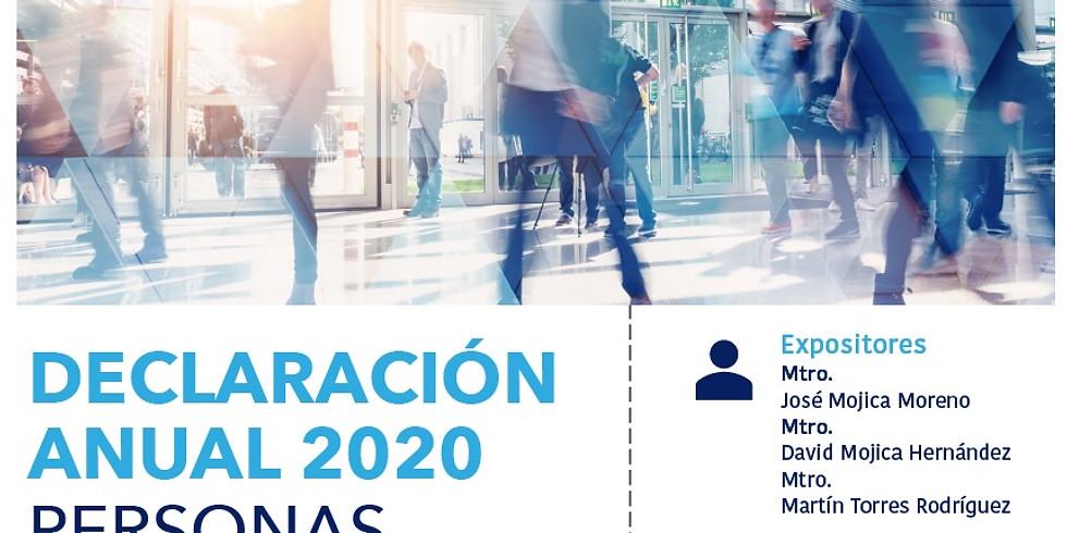 Declaración Anual 2020 Personas Morales Maquiladoras