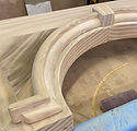 Carved door arch