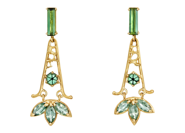 Trapiche Emerald Dangles