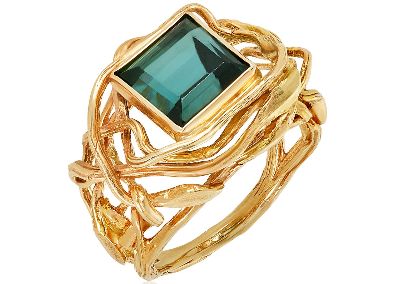 Peony Bramble & Tourmaline Ring