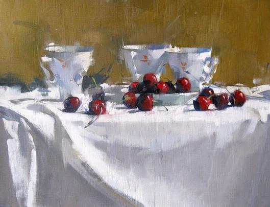 Cherries & Three Cups, 2018