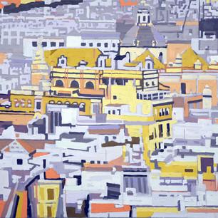 Seville from the Gira 106 x122cm