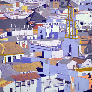 Seville from the Gira 106 x 122 cm