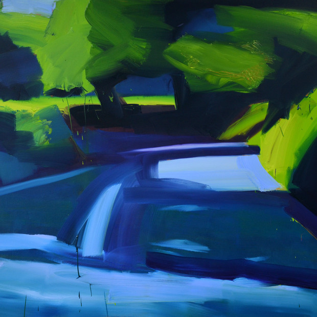 Sunken Bend, oil on canvas, 105 x 120 cm