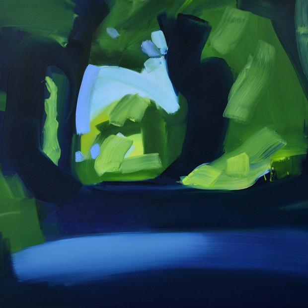 Morning Lane Light, oil on canvas, 105 x 120 cm