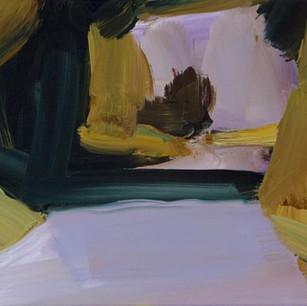 Cotswold lane 2, oil on canvas, 30 x 35 cm