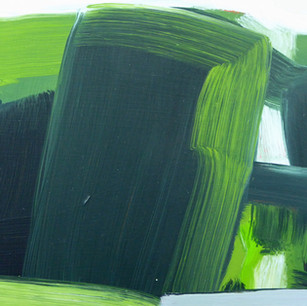 Rousham Yew, oil on canvas, 18 x 23 cm