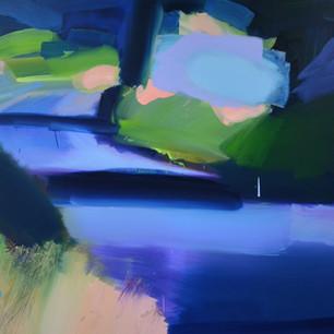 Autumn Ride, oil on canvas, 90 x 130 cm