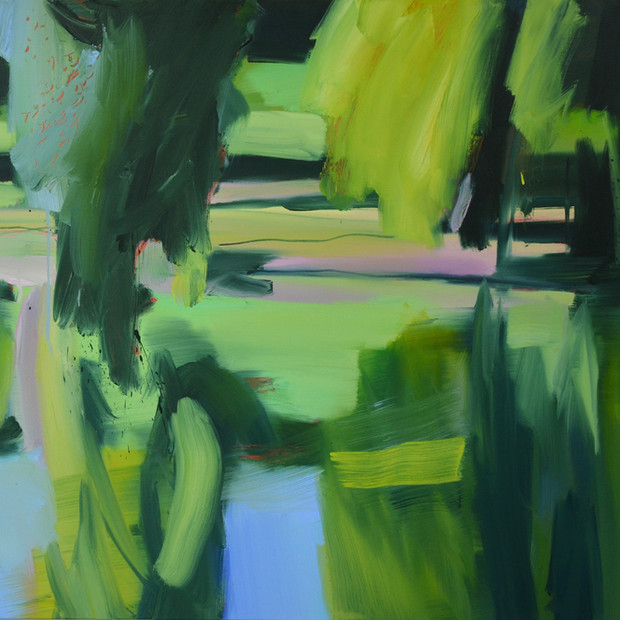Willows Lake, oil on canvas, 105 x 120 cm