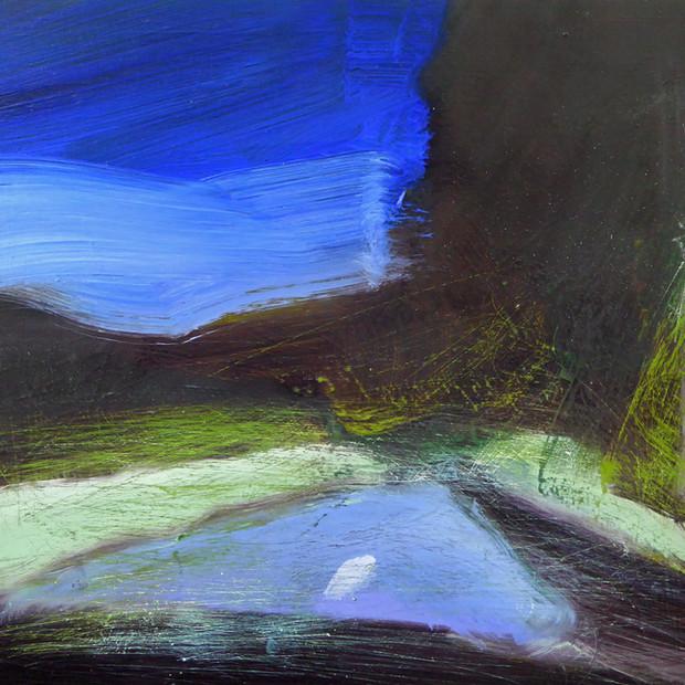 Night Drive, oil on canvas, 22 x 26 cm
