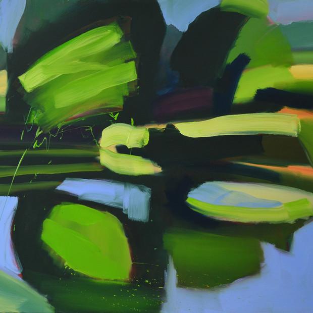 Lake  2019, oil on canvas, 105 x 120 cm