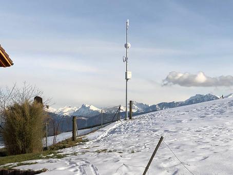 Relais Station oberhalb Kriens / LU hat Betrieb aufgenommen