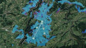 Guggisberg-Schwarzenburg: Über 70 Liegenschaften sind via  Langstrecken-WLAN erschlossen.