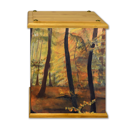 Autumn Woods Art Canvas Urn