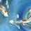 Thumbnail: Blue Koi Art Canvas Urn