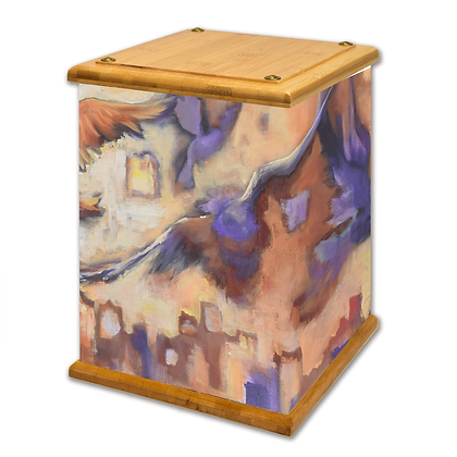 Pigeons And The City Art Canvas Urn